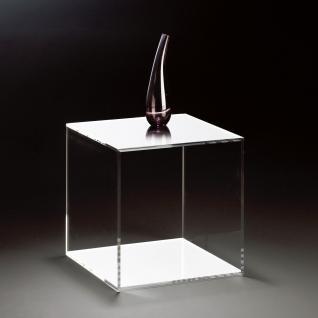 Hochwertiger Acryl-Glas Würfel, klar / weiß, 35 x 35 cm, H 35 cm, Acryl-Glas-...