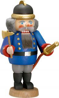"Nussknacker "" Feuerwehrmann"", aus Holz, blau, Höhe 29 cm"