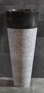 Waschtischsäule / Waschbecken, 2-teilig, aus Marmor, Ø 40 x H90 cm