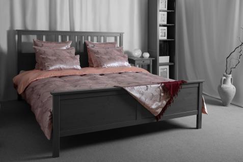Seiden-Bettwäsche, lila/rosa, elegeanter Luxus-Seiden-Bettbezug, hochwertig g...