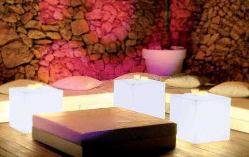 Leuchtwürfel / Sitzwürfel, Cuby Light, 2 Größen, weiß, (220-240 V) Energiespa... - Vorschau 3