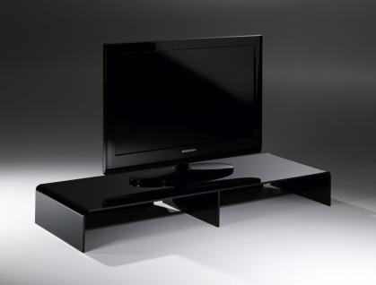 Hochwertiger Acryl-Glas TV-Tisch, TV-Rack, schwarz, 80 x 40 cm, H 15 cm, Acry...