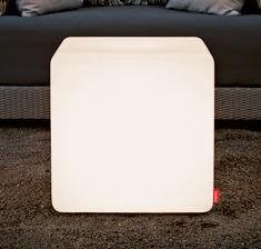 Moree Cube Leuchtwürfel / Sitzwürfel, beleuchtet, B 44, L 44, H 45 cm, PE sei...