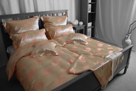Seiden-Bettwäsche, rosa, elegeanter Luxus-Seiden-Bettbezug, hochwertig genäht...