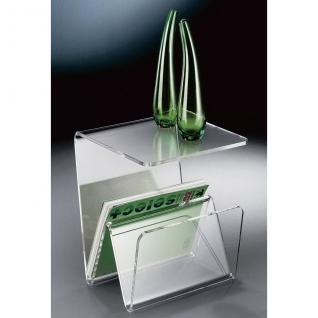 Hochwertiger Acryl-Glas Zeitungsständer, Beistelltisch mit Zeitschriftenständ...