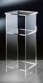 Hochwertiger Acryl-Glas Telefontisch, klar, 33 x 31 cm, H 73 cm, Acryl-Glas-S...