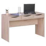 Stilvoller Schreibtisch / Bürotisch für Jugendliche, Sonoma Eiche, mit drei S...