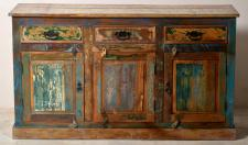 "Sideboard / Schrank, "" Vintage Look"", Altholz, bunt, B140 x T40 x H80 cm"