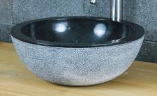 Aufsatzwaschbecken aus Marmor, Ø 40 x H15 cm