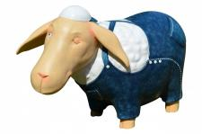 """XL-Figur / Deko-Tier / Figur, """" Schaf 2"""", aus Polyresin, B40 x H60 cm, für Inn..."""
