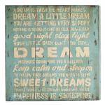 "Wand-/Dekoschild / Wall Art "" A dream"", aus MDF, im Vintage-Look, B60 x H60 x ..."