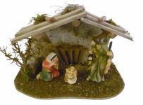 """Weihnachtskrippe / Stall """" Kitzbühel"""" aus Holz handgefertigt in Deutschland, d..."""