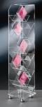 Hochwertiger Acryl-Glas CD DVD Ständer / CD DVD Regal, mit 4 Chromrollen, kla...
