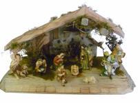 """Weihnachtskrippe / Stall """" Oberstdorf"""", aus Holz handgefertigt in Deutschland,..."""