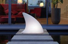 Moree Shark Bodenleuchte / Dekoleuchte, L 70 cm x W 19, 5 x H 65 cm, Polyethyl...