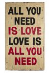 "Wand-/Dekoschild / Wall Art "" All you need "", aus MDF, im Vintage-Look, B50 x ..."