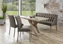 Moderne Bankgruppe / Essgruppe Cannes, 1 Bank, 2 Stühle, 1 Wangentisch, mit K...