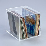 Hochwertiges Acryl-Glas Wandregal für Schallplatten / Vinylplatten, transpare...