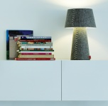 """Moree LED Tischlampe / Schreibtischlampe """" Alice"""", aus Filz (PE), Lampenschirm..."""