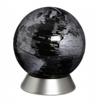 Moderner Globus / Weltkugel / Spardose, aus Metall, silber und Kunststoff, Ø 1...