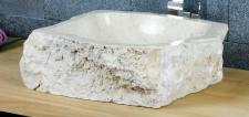 Aufsatzwaschbecken aus Marmor, B45 x T38 x H15 cm