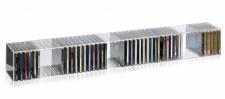 Hochwertiges Acryl-Glas Wandboard / Wandregal / CD BLU-Ray Regal mit Rückwand...