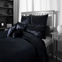 Seiden-Bettwäsche, schwarz, elegeanter Luxus-Seiden-Bettbezug, hochwertig gen... - Vorschau 2