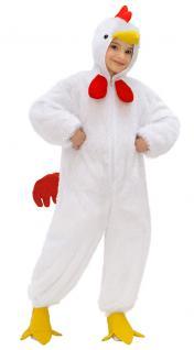 Karneval Klamotten Kostüm Huhn Plüsch mit Kopf Junge Mädchen Tier Kinderkostüm