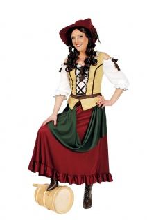Magd Kostüm Damen Bäuerin Freifrau Wirtin Mittelalterkleid Fasching Karneval KK