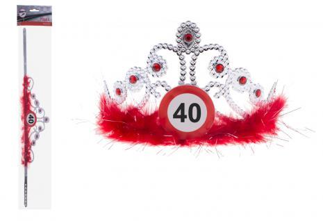 Krone Geburtstag Verkehrszeichen 40 Jahre