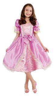 Prinzessin Kleid Kinder Kostüm Mädchen Luxus rosa gold kurz Märchenkostüm KK