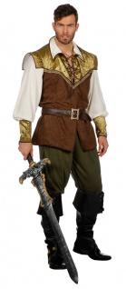 Robin Hood Kostüm Herren König der Diebe Mittelalter Fasching Herren-Kostüm KK