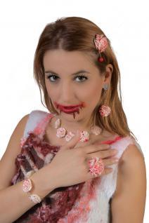 Zombie Schmuck-set Rose mit Blut blutige Schmuck Ohrringe Ring Halskette Zombie