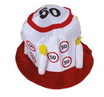 Hut Geburtstag 50 Jahre Verkehrsschild