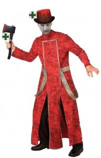 Dämonisches Horror Kostüm Herren Teufel Satan mit Hut Blut und blutiger Axt KK