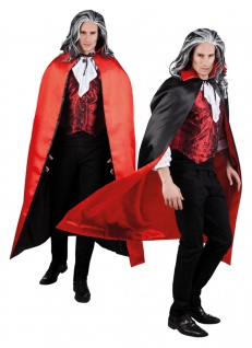 Vampir Umhang Herren Wendeumhang Vampir Herrenkostüm Halloween-Kostüm KK