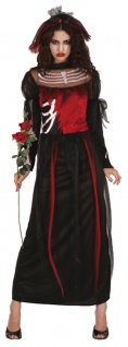 Halloween Kostüm Zombie Braut Damen Geisterbraut Halloween-Kostüm Fasching KK