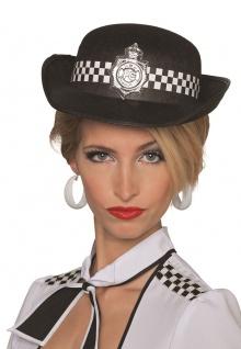 Polizei Hut Helm Bobby Polizistin-Hut England London Damen-Hut Fasching KK
