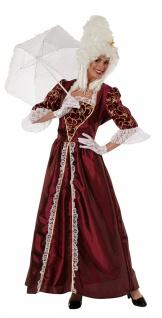 Barock Rokoko Kleid Kostüm Damen bordeaux Renaissance Mittelalter Fasching KK