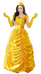 Belle Kostüm Damen Märchen-Kostüm Prinzessin gelb Die Schöne Karneval Fasching K