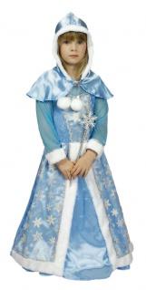Eisprinzessin Kleid Schneekönigin Kostüm Mädchen mit Stab Elsa Frozen Fasching K