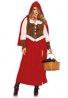 Rotkäppchen Kostüm Damen Märchen-Kostüm Korsett Damenkostüm Karneval Fasching KK