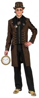 Steampunk Kostüm Herren Mantel Viktorianisch Gothic Retro braun schwarz gold KK