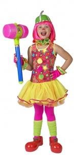 Clown Kostüm Mädchen Zirkus Clown-Kleid Sterne Harlekin Kinder-Kostüm Fasching K