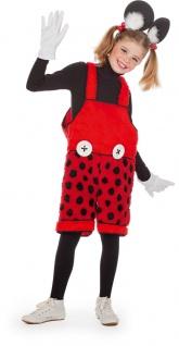 Mickey Mouse Kostüm Latzhose Maus Kinder Micky Karneval Fasching KK