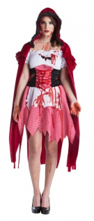 Rotkäppchen Zombie Kostüm Horror Damen-Kostüm blutig Blut Halloween KK