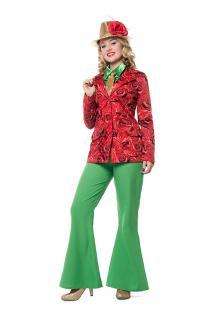 Show Jacke Damen Damen-Jacke Rosen Karneval Party-Kostüm Show Damen-Kostüm KK
