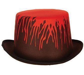 Zylinder schwarz mit Blut Halloween-Hut KK