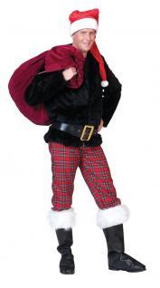 Weihnachtsmann-Kostüm Nikolaus-Kostüm Herren Hose rot kariert