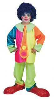 Kostüm Clown Kind Junge neon-bunt Clownkostüm Kinderkostüm Fasching Karneval KK